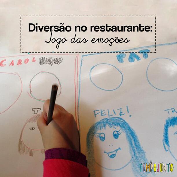 Atividade no restaurante – jogo das emoções