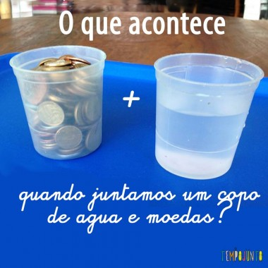Hora do Experimento de Ciências: propriedades da água