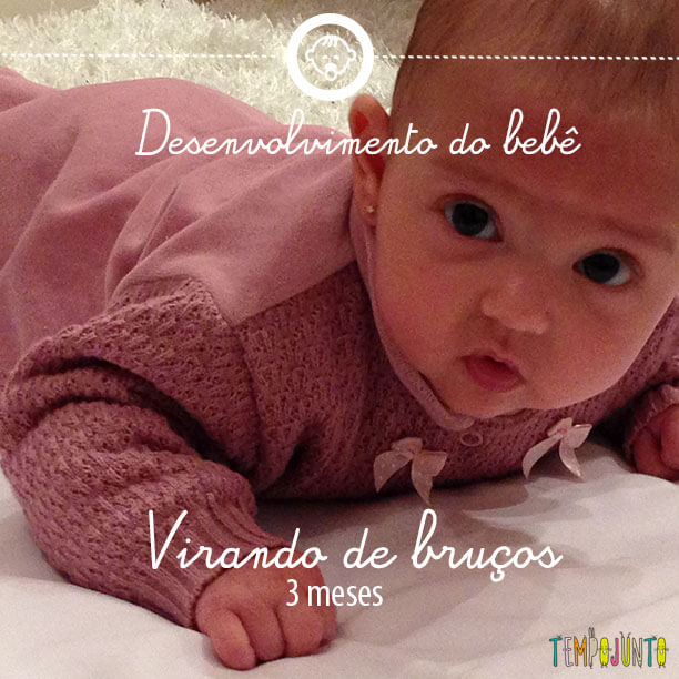 Desenvolvimento do bebê 2: sustentar a cabeça e ficar de bruços