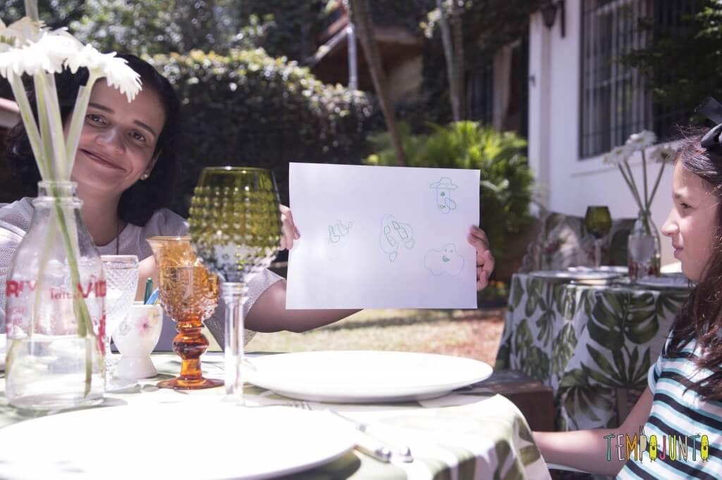Atividade no restaurante - Dar vida para as formas curiosas com pat
