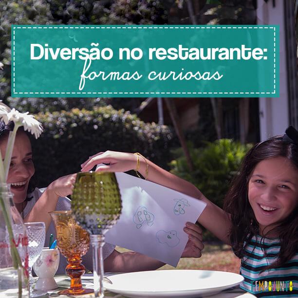 Atividade no restaurante – Dar vida para as formas
