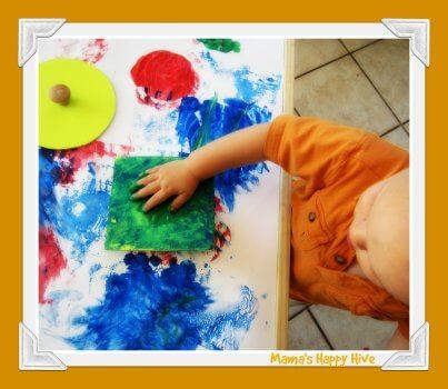 Brincadeiras do método Montessori para fazer com seu bebê - formas para pintar
