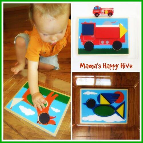 Brincadeiras do método Montessori para fazer com seu bebê - quebra cabeça de formas