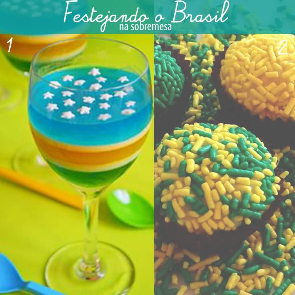 comidas para festejar 7 setembro gelatina e brigadeiro