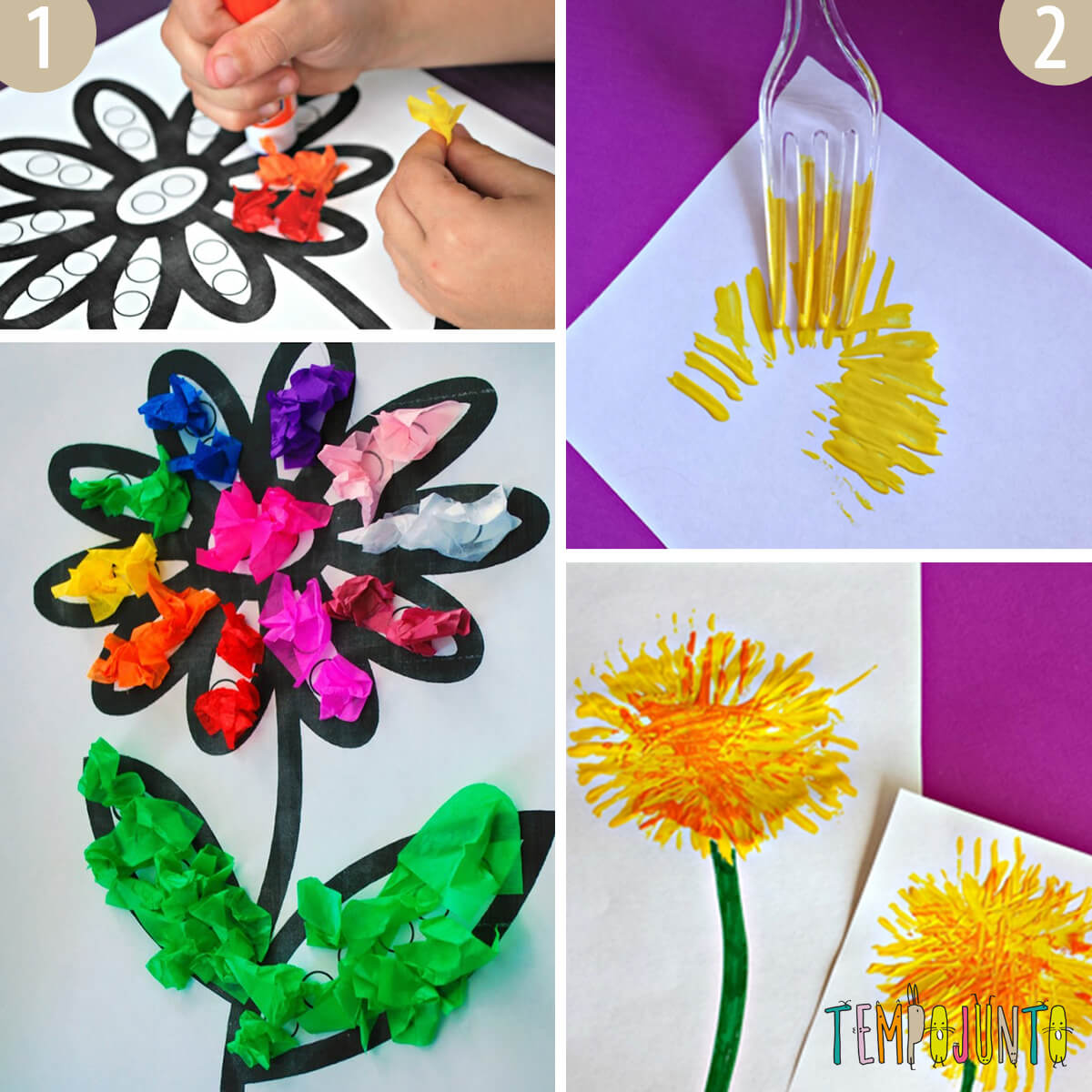 é Primavera Vamos Criar Flores Com As Crianças
