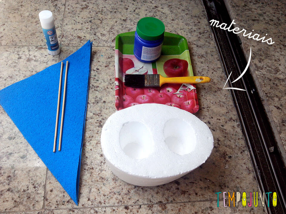 materiais para barquinho de isopor