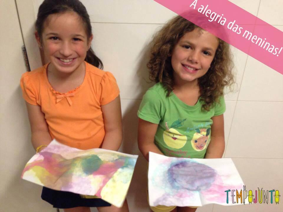 Brincadeiras artísticas - papel de carta com bolha