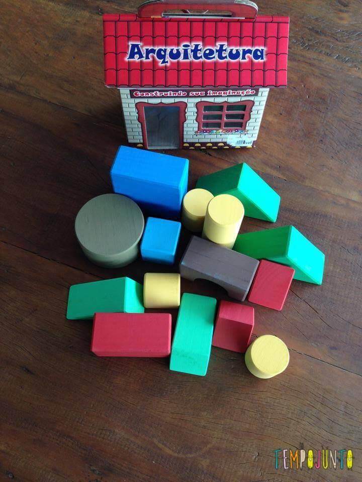 A caixa de formas geometricas