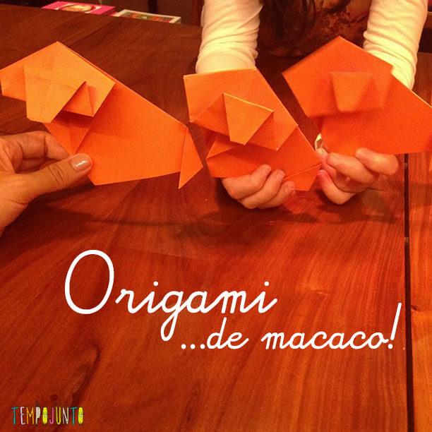 Aprenda a fazer um Origami de Macaco com a Carol