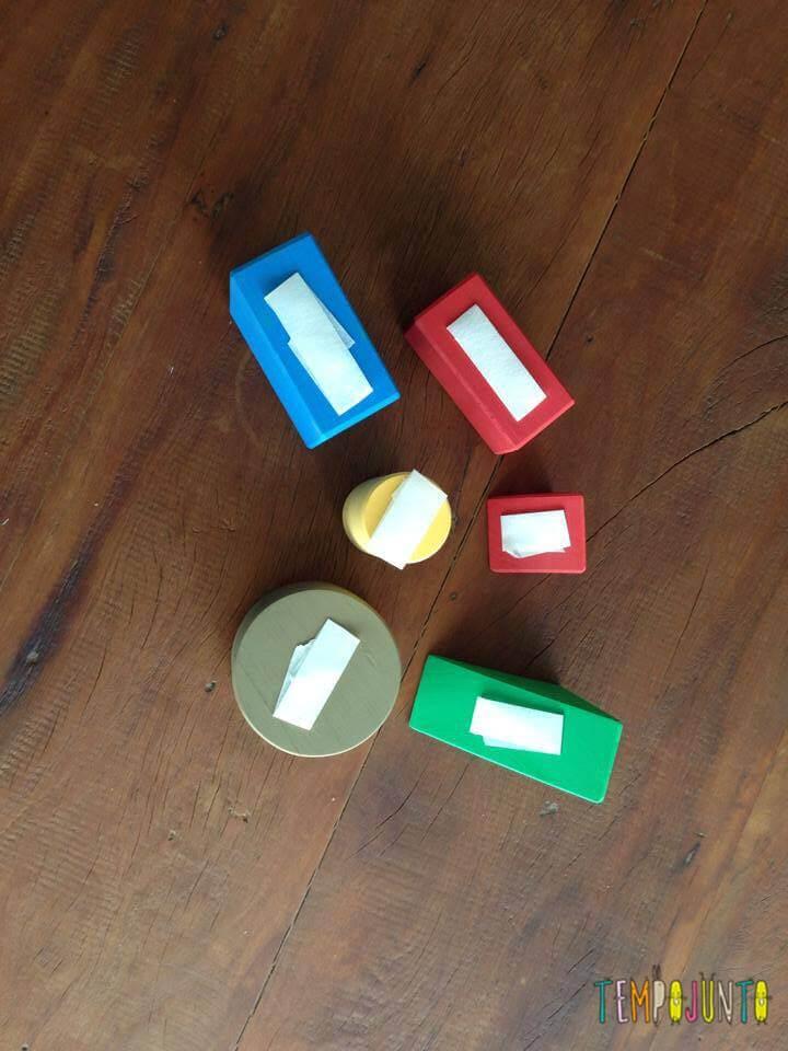 formas geometricas com fita crepe