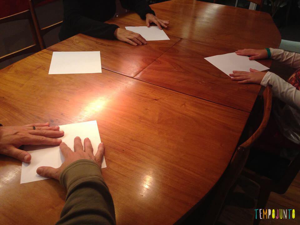 Origami na mesa