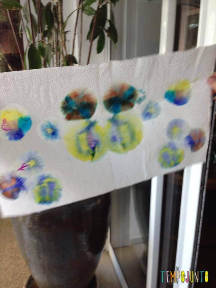Efeito aquarela como resultado da pintura