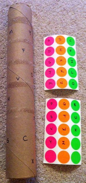 projeto abc - tubo de papel toalha no dia sem barulho