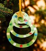 Arvore em espiral - enfeites de natal
