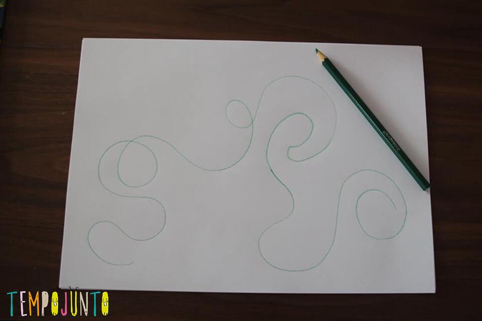base pro desenho em uma linha