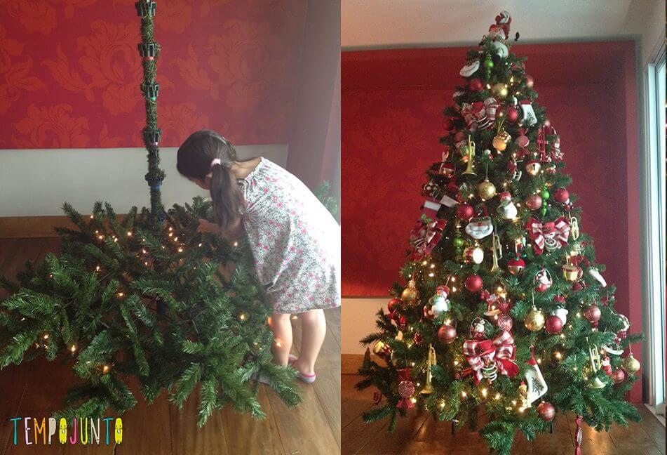 natal mágico para o seu bebê árvore montada