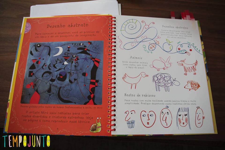 complete o desenho no livro