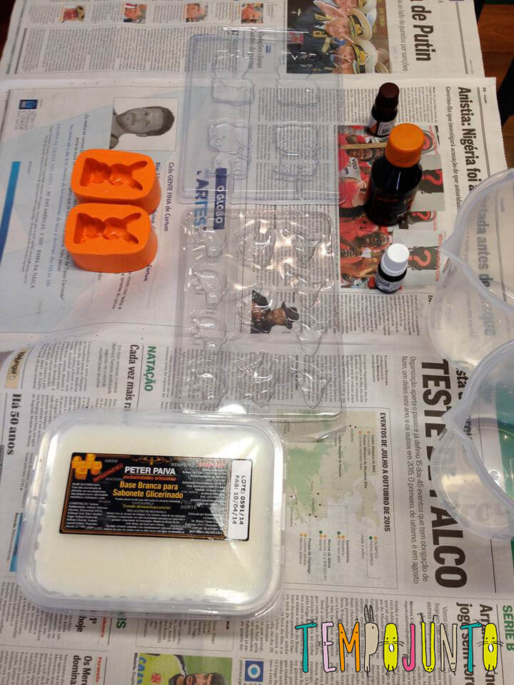 material pro sabonete artesanal