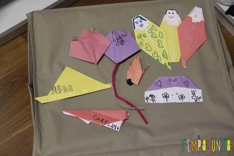 origami na caixa surpresa
