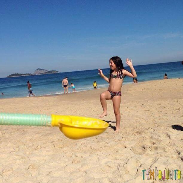Carol na praia