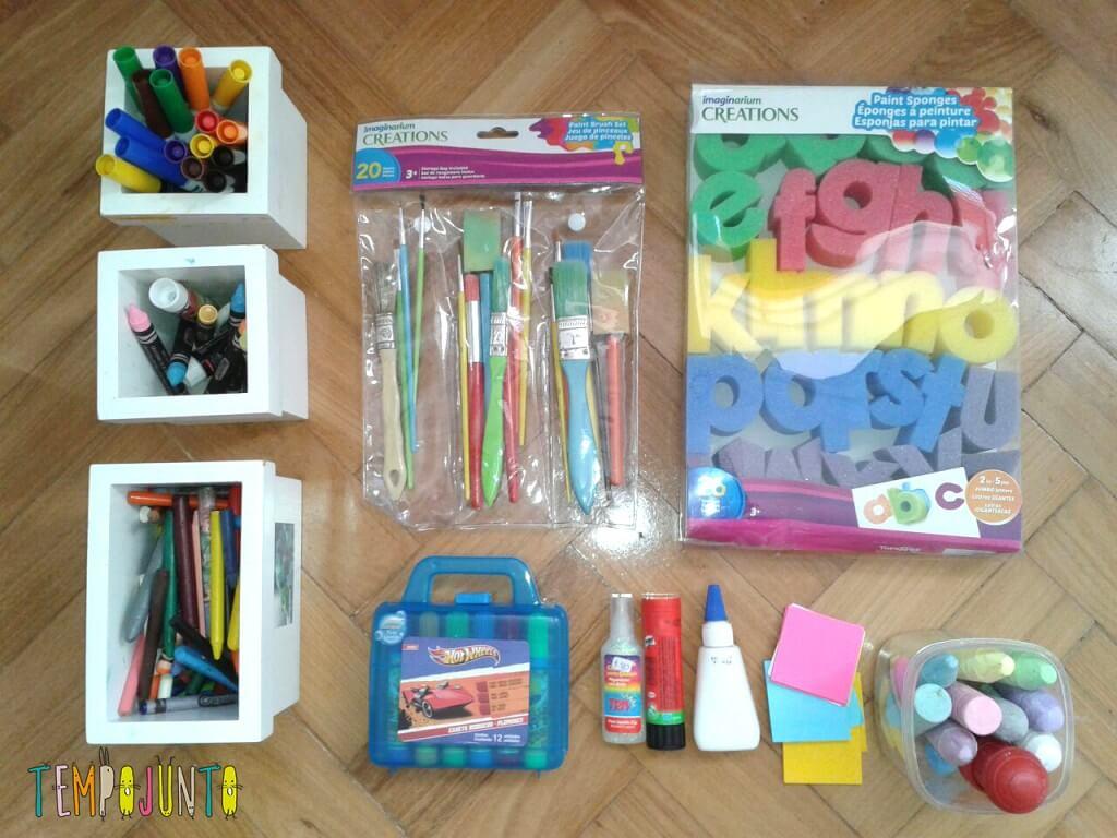 como estimular a criatividade do seu filho - material