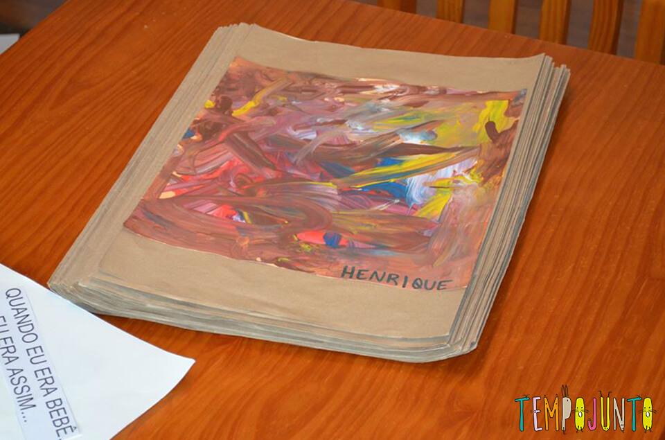 exposição de arte - trabalhinhos de escola henrique