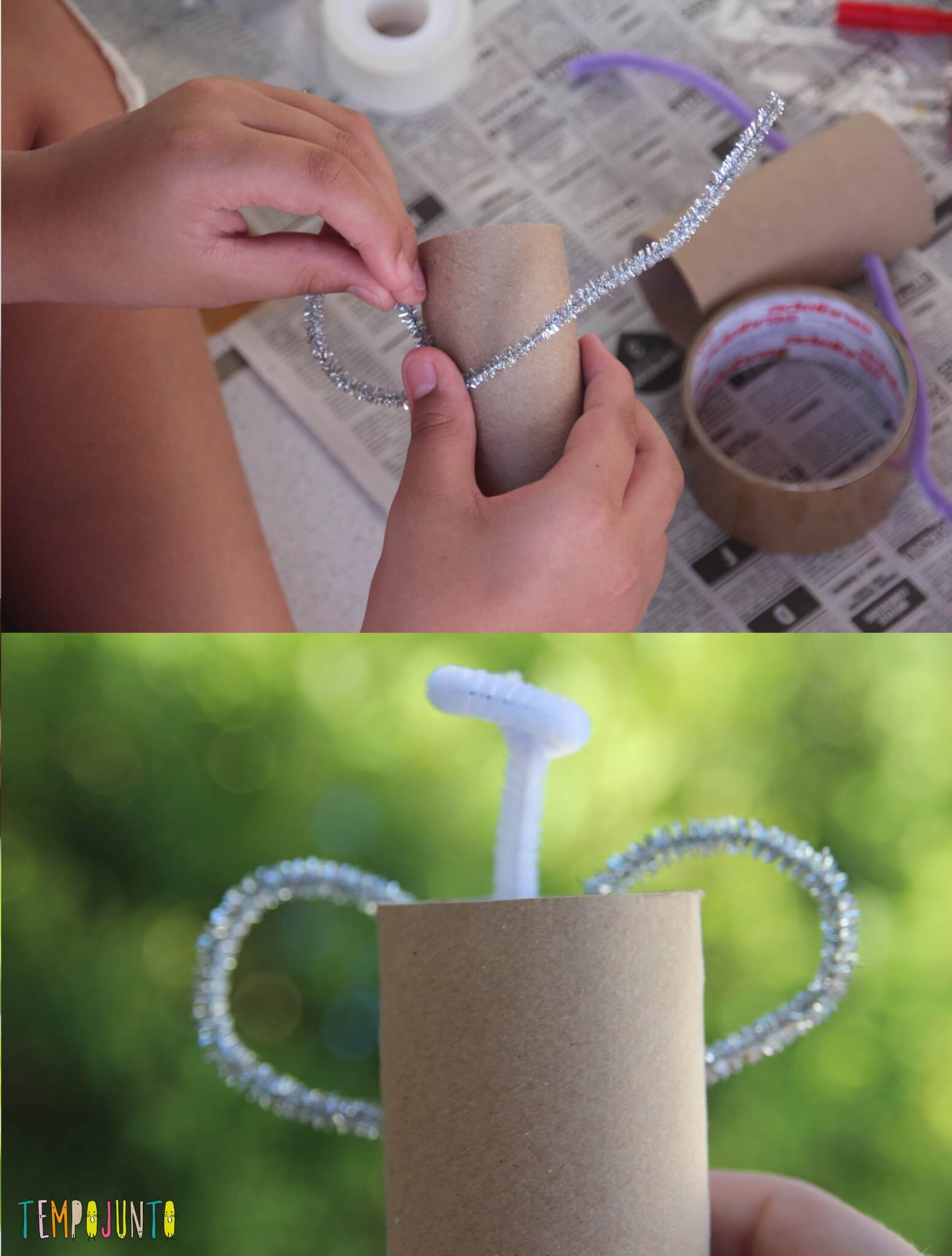ideias criativas com rolo de papel higiênico - anjo da fernanda