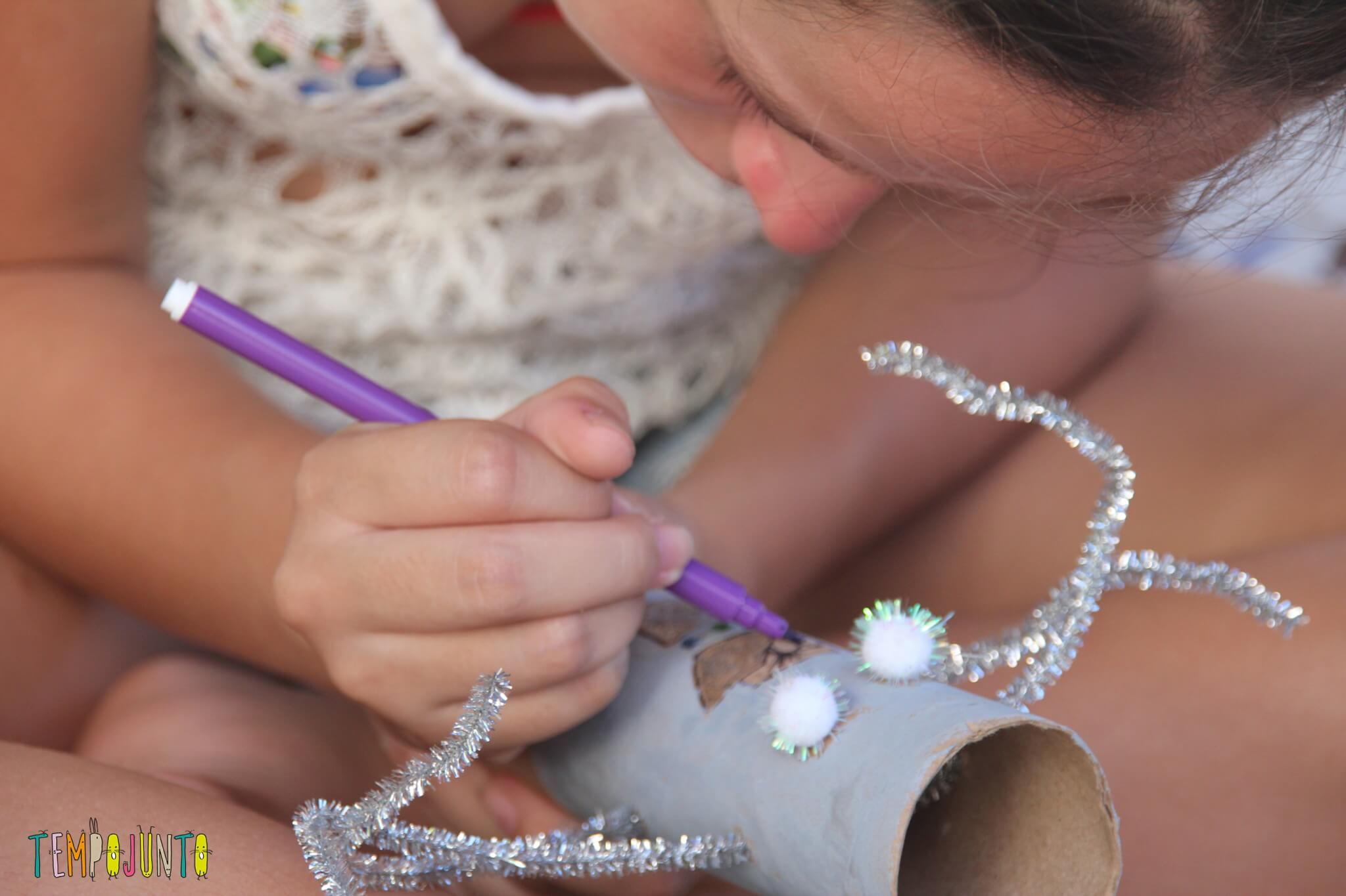 ideias criativas com rolo de papel higiênico - Robo da Clarinha