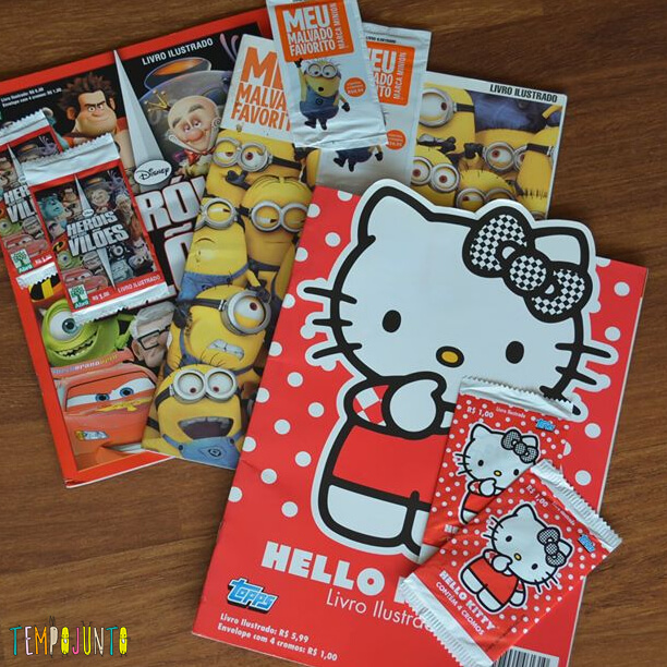 album de figurinhas da hello kitty