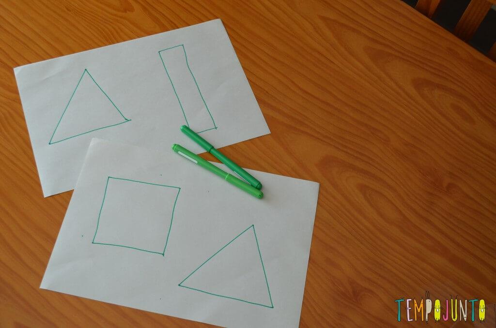 Gincana - figuras de tringulos e caneta