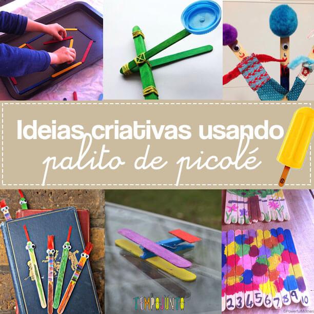 Ideias criativas usando palito de picolé