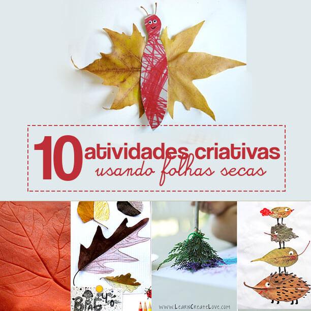 10 atividades com folhas secas para celebrar o outono