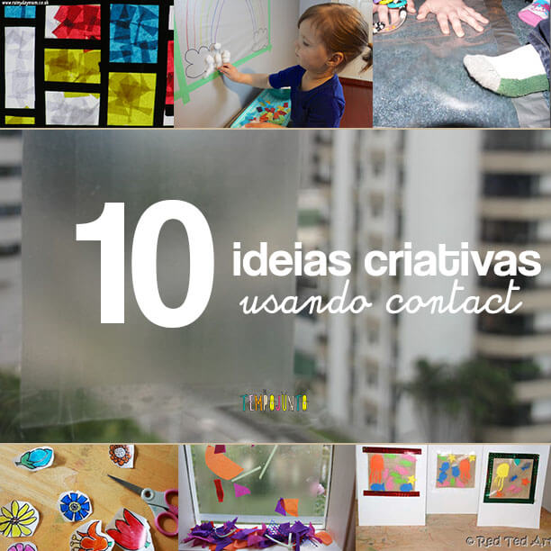 10 ideias criativas usando papel contact