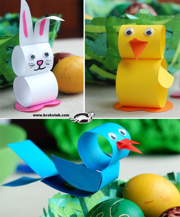 10 ideias criativas para fazer na Páscoa - Animais de cartolina
