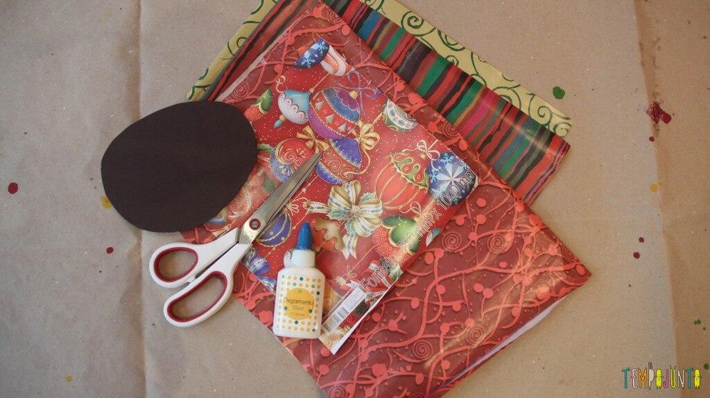 cartões de Páscoa - material cartão de pompom