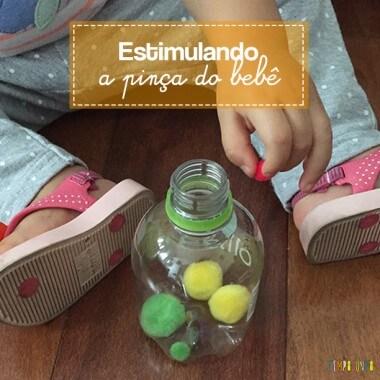 Como estimular o movimento de pinça do bebê