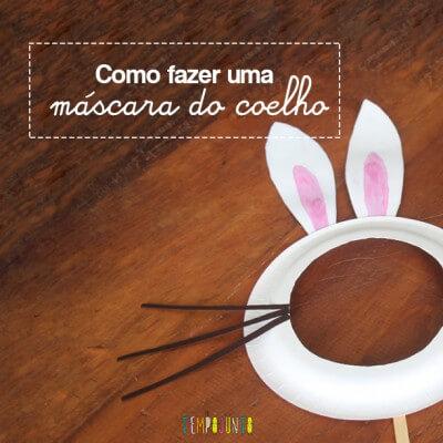 Como fazer em casa uma máscara de coelho para as crianças