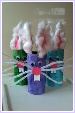 10 ideias criativas para fazer na Páscoa - coelho rolo de papel