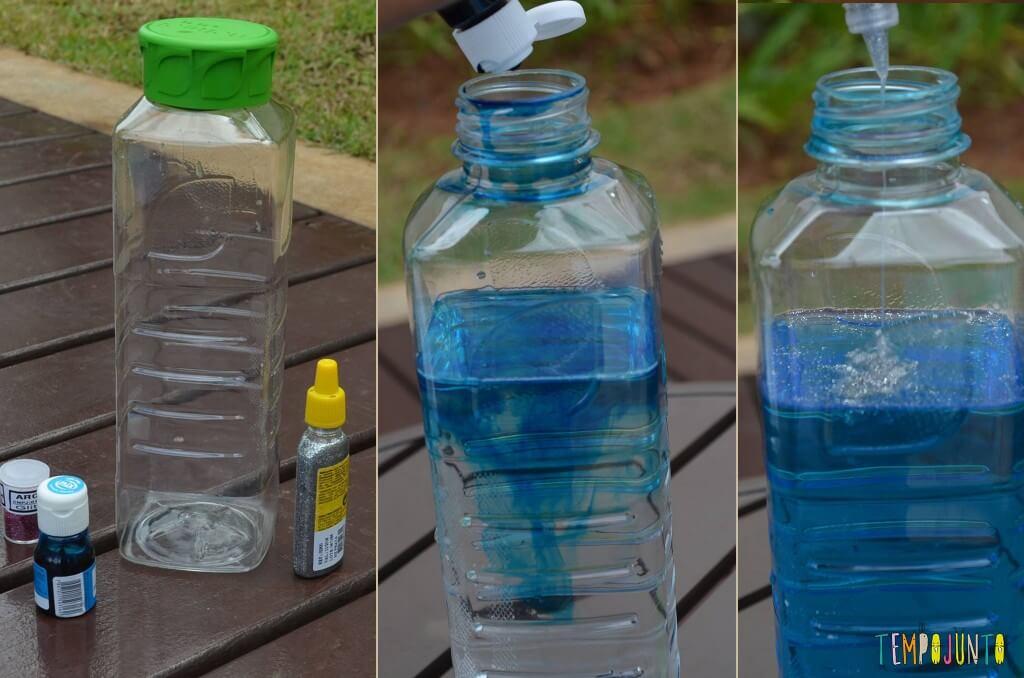 Ideias do que fazer hora de dormir - garrafa calmante