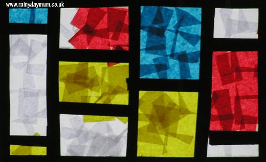 10 ideias criativas para brincar com papel contact - janela mondrian