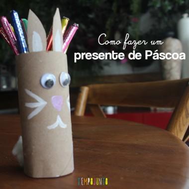 Como fazer com as crianças um presente simples para a Páscoa