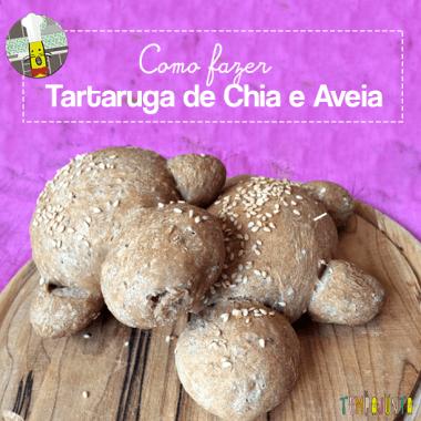 Só numa cozinha com crianças sai uma Tartaruga de Chia e Aveia!