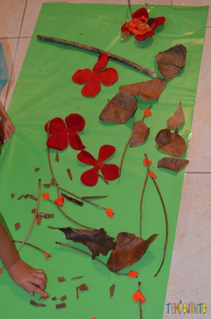Cantinhos para brincar - resultado mesa outono