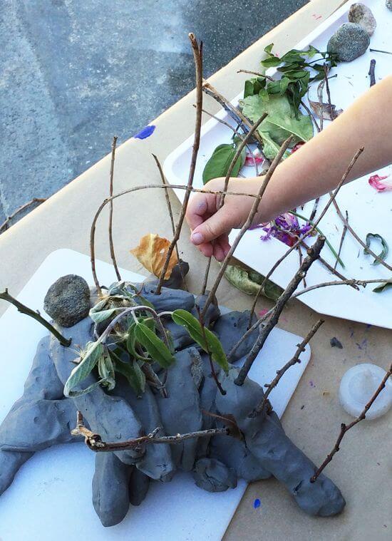 arte com argila - argila de forma livre com natureza