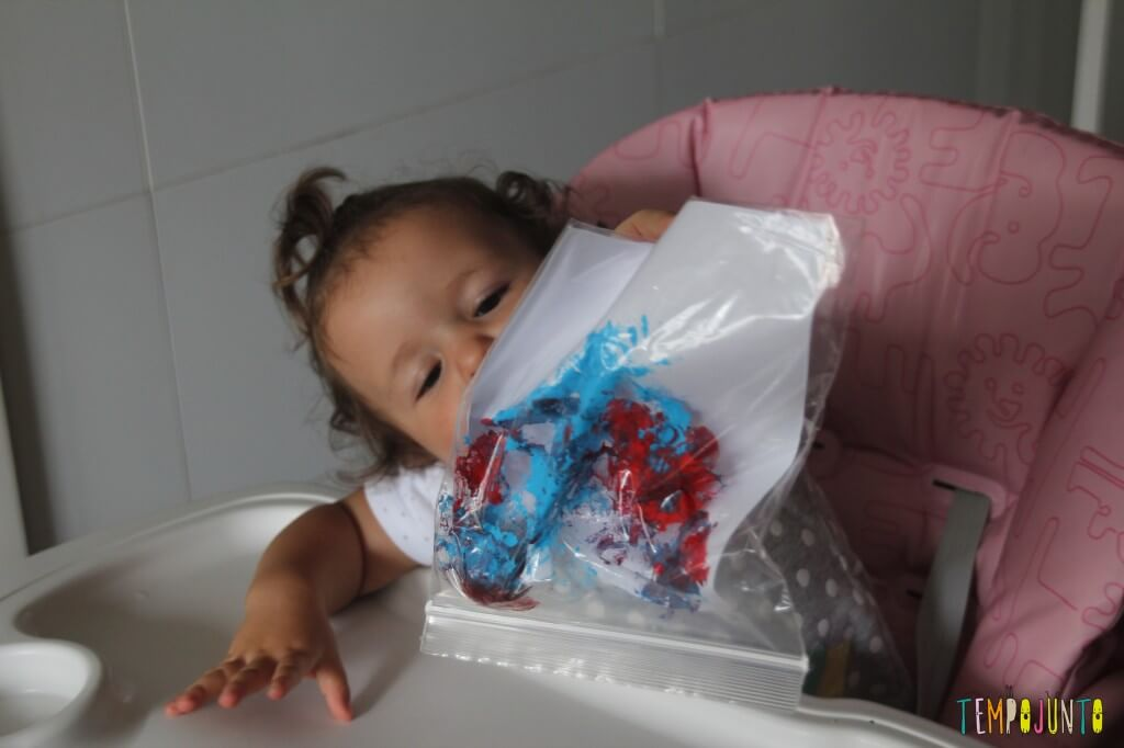 Pintura sem sujeira para bebês - resultado Gabi
