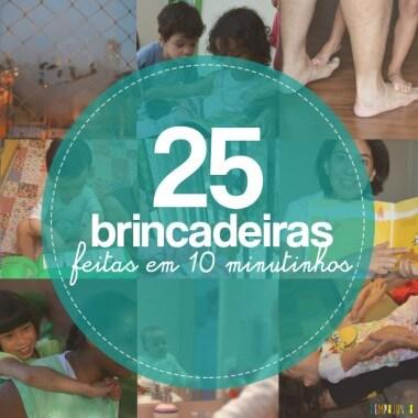 Semana Mundial do Brincar: 25 brincadeiras para quem só tem 10 minutos