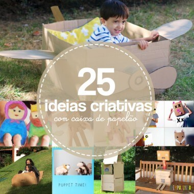Semana Mundial do Brincar: 25 brincadeiras com caixa de papelão