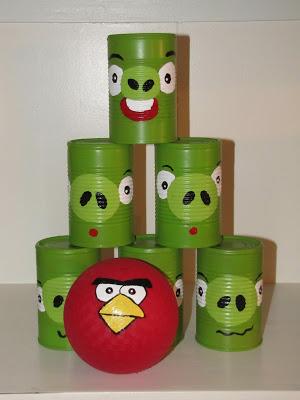 Brincadeiras de festa junina - angry birds de lata