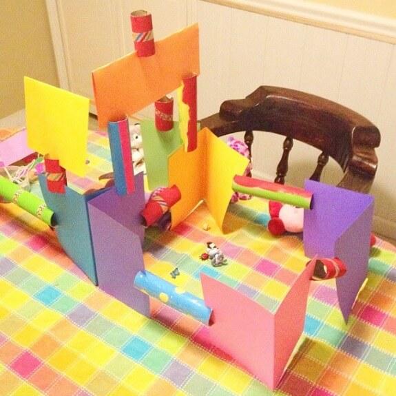 Casa de papel cartao
