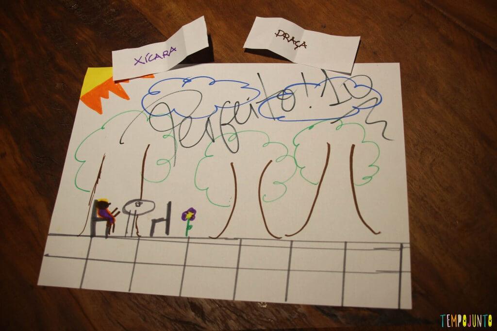 Como deixar a atividade de desenhar mais divertida - desenho avaliado